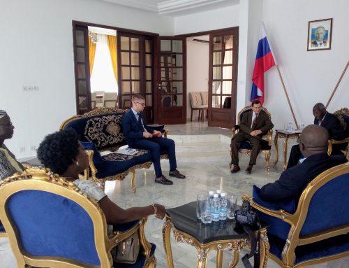 Audience de la délégation des hommes d'affaires et autorités politiques chez l'ambassadeur de la Russie en côte d'ivoire